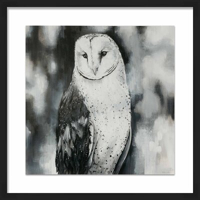 'White Owl' Framed Painting Print 1-33186