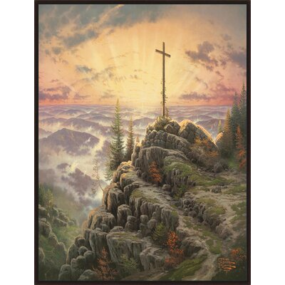 'Sunrise' by Thomas Kinkade Framed Painting Print on Wrapped Canvas 9-10942