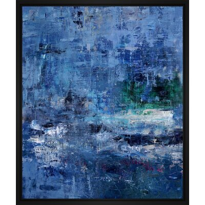 'Emerald Blue' Framed Print on Wrapped Canvas