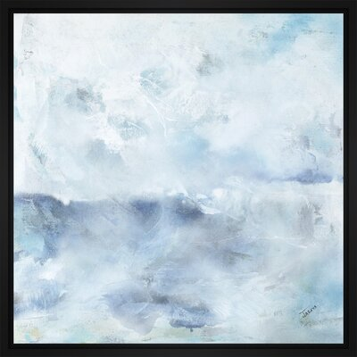 'Horizon Mist Sketch II' Framed Print on Wrapped Canvas