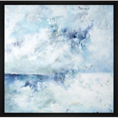 'Horizon Mist' Framed Print on Wrapped Canvas