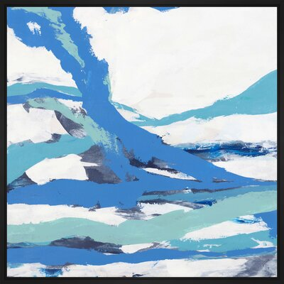 'Overlap' Framed Print on Canvas