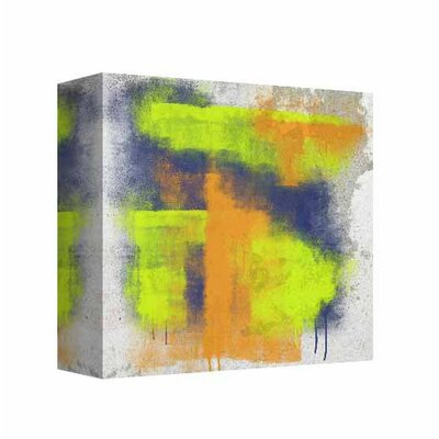 'Neon Strokes' Graphic Art Print on Canvas