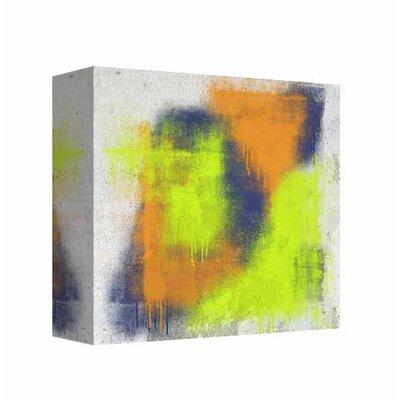 'Neon Strokes 2' Graphic Art Print on Canvas