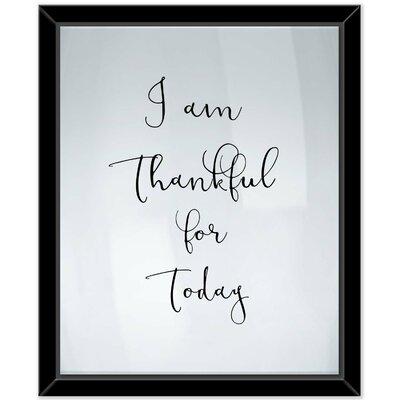 'Thankful' Framed Textual Art on Canvas