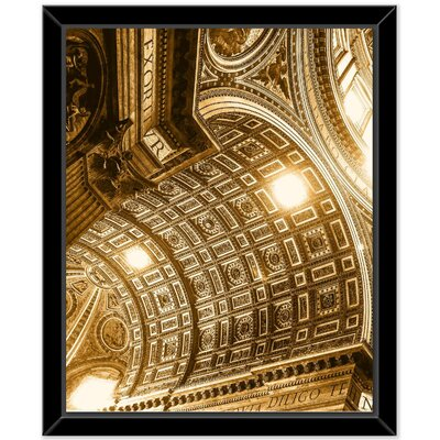 'Gold C' Framed Photographic Print on Canvas