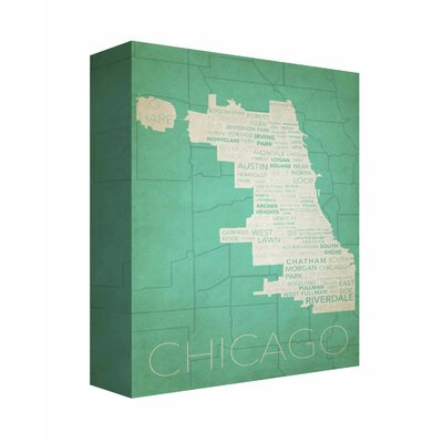'Chicago in Words 8' Textual Art on Canvas