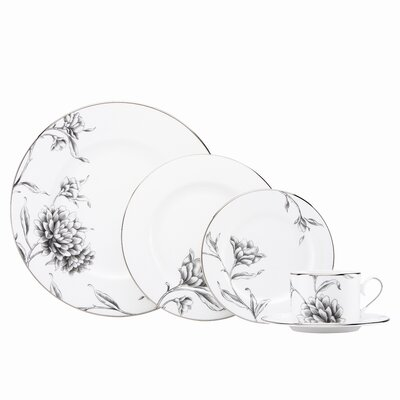 Marchesa By Lenox-floral Illustrations 11.75 Charger Plate In Black