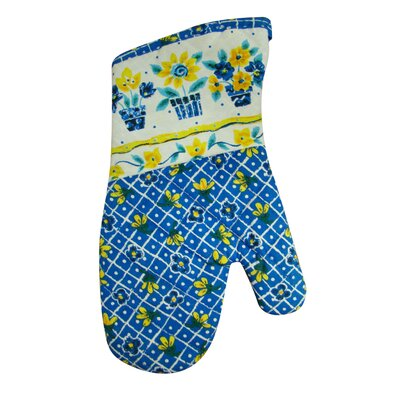 Printed Three Pots of Flower Oven Mitt Oven Mitt P