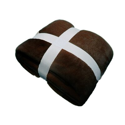 Plush Velvet Blanket Color: Chocolate, Size: Queen
