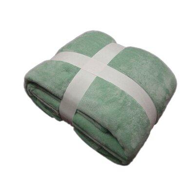 Plush Velvet Blanket Color: Sage, Size: King