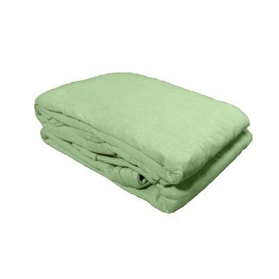 Textiles Plus 100% Cotton Solid Jersey Knit Sheet Set - Size: Full Color: Sage