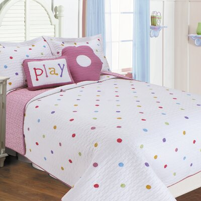 Polka Dots Quilt Set Size: Twin