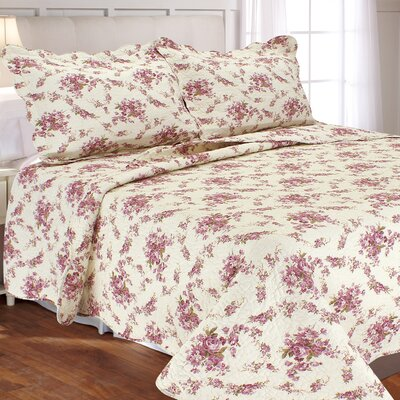 Vintage Rosie 3 Piece Quilt Set Size: Full/Queen