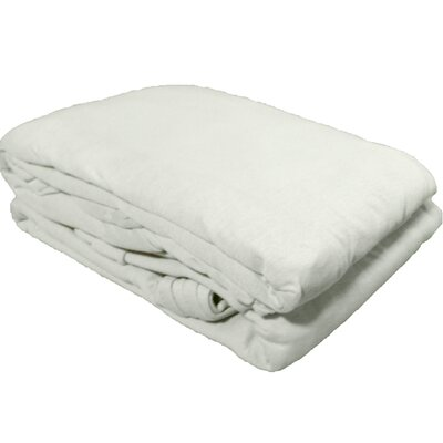 Solid Jersey Knit Sheet Set Color: White, Size: Full