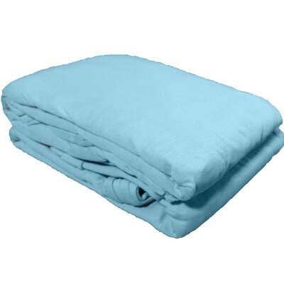 Solid Jersey Knit Sheet Set Color: Sky Blue, Size: Twin