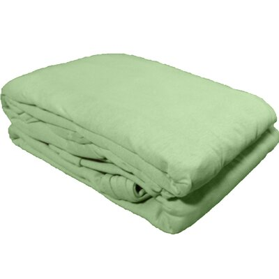Solid Jersey Knit Sheet Set Color: Sage, Size: Twin