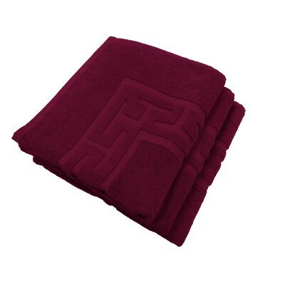 Tub Mat Set Color: Burgundy