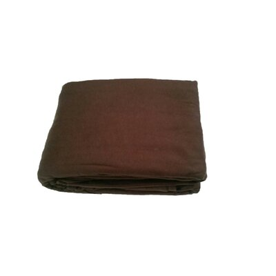 Solid Jersey Knit Sheet Set Size: Full, Color: Chocolate