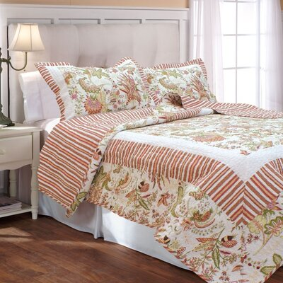 French Bouquet Quilt Set Size: Full / Queen