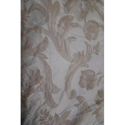 Jacquard Scroll Loveseat Slipcover Upholstery: Taupe
