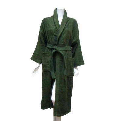 Terry Bath Robe Color: Hunter Green