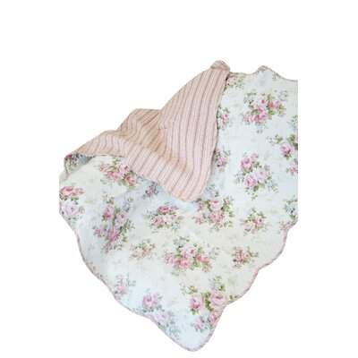 Rose Perfume Spring Rose Cotton Throw Blanket