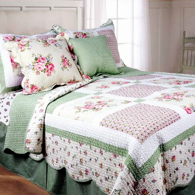 Spring Patch Cotton Quilt Set Size: Full / Queen