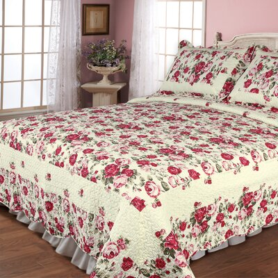 Rose Garden 2 Piece Quilt Set Size: Twin