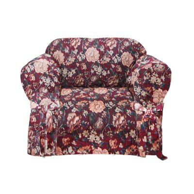 Tapestry Box Cushion Armchair Slipcover
