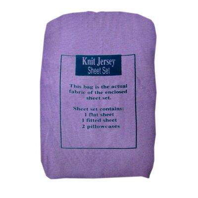 Knit Jersey Sheet Set Size: Queen, Color: Purple