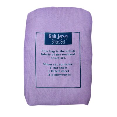 Knit Jersey Sheet Set Size: Queen, Color: Lavender