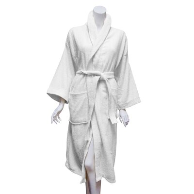 Terry Bath Robe Color: White