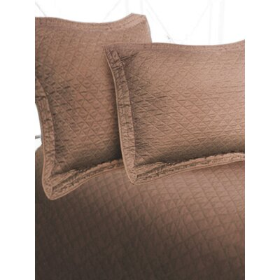 Luxury Cotton Sateen Diamond Coverlet Size: King, Color: Cocoa
