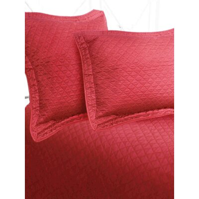 Luxury Cotton Sateen Diamond Coverlet Size: King, Color: Cranberry
