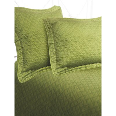 Luxury Sateen Diamond Sham Size: Euro, Color: Green Tea