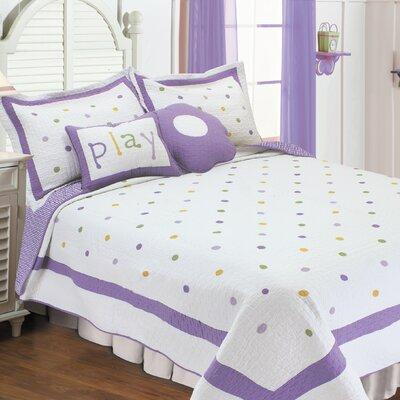 Quilt Set Size: Twin, Color: Lavender Polka D Lav T