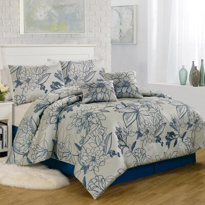 Summerline 6 Piece Comforter Set Size: King