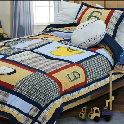 Baseball Comforter Set Size: Full / Queen