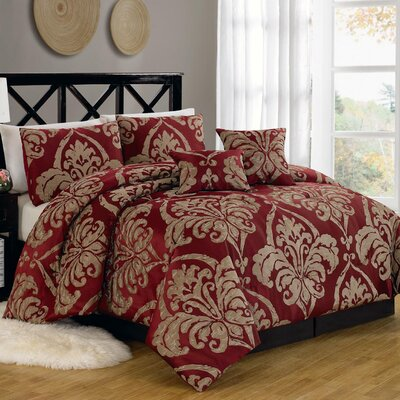 Imperial Court 6 Piece Comforter Set Size: Queen