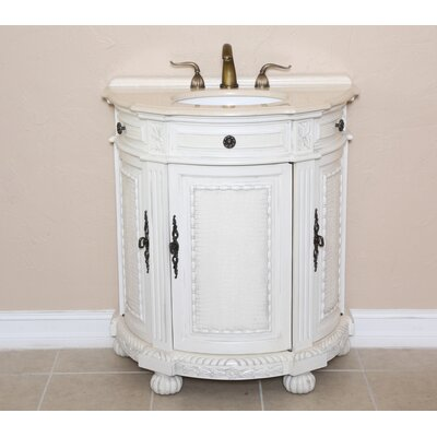 Josh 31 Single Demilune Bathroom Vanity Set