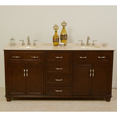 Tawanna 72 Double Bathroom Vanity Set