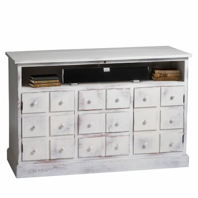 Nantucket 60 TV Stand Color: Weathered White