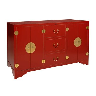 Dynasty 68 TV Stand Color: Red