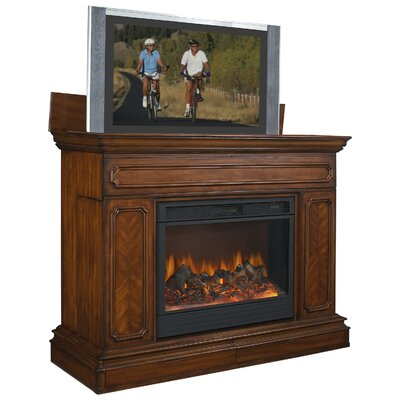 Cheap TVLIFTCABINET, Inc Remington Fireplace TV Lift Cabinet in Brown (IXA1009)
