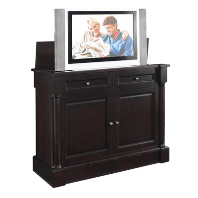 Cheap TVLIFTCABINET, Inc Wynterhall Rotating TV Lift Cabinet in Dark Wood (IXA1017)