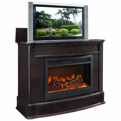 Cheap TVLIFTCABINET, Inc Soho Electric Fireplace TV Lift Cabinet in Dark Wood (IXA1025)