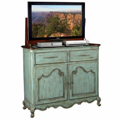 Belle TV Stand Finish: Blue