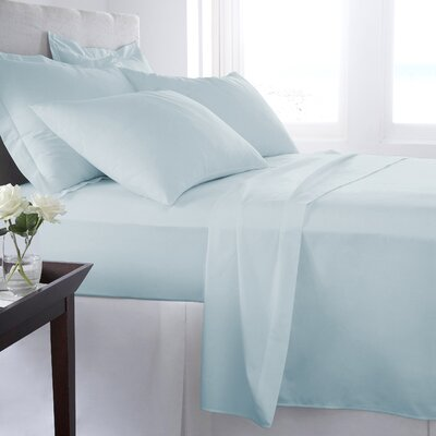 500 Thread Count 100% Cotton Solid Sheet Set Size: Queen, Color: Billowing Sail