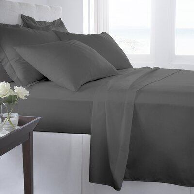 500 Thread Count 100% Cotton Solid Sheet Set Size: King, Color: Smoked Pearl